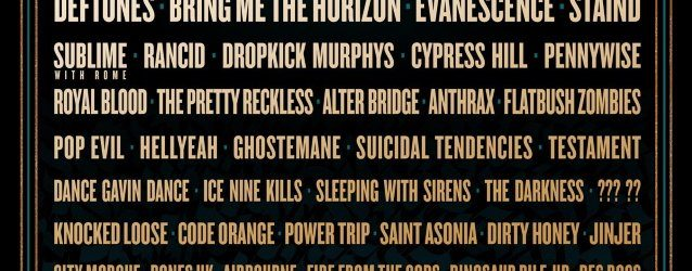SLIPKNOT, DEFTONES, BRING ME THE HORIZON, EVANESCENCE, Others Added To 2020 Edition Of SONIC TEMPLE ART + MUSIC FESTIVAL